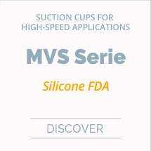 Soft and flexible suction cups for high speed applications, MVS series